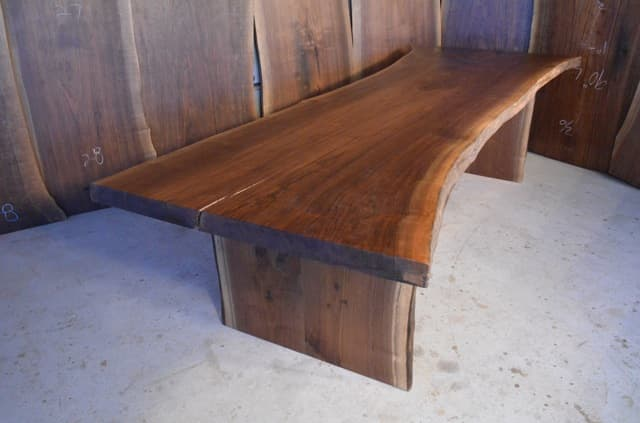 #10 - 113 long Walnut Crotch Dining Table_1