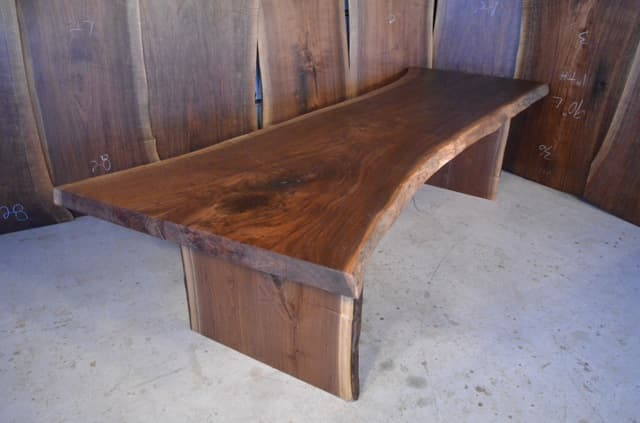 119 Inch Long Walnut Crotch Dining Table
