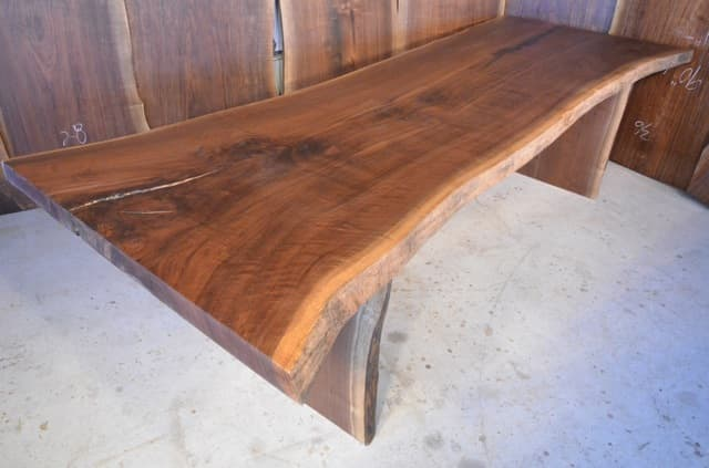 #14 - 114 long Walnut Crotch Dining Table_3