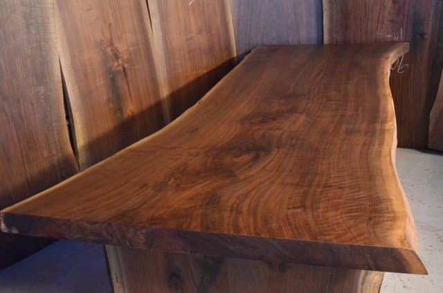 Long Reclaimed Walnut Crotch Dining Table