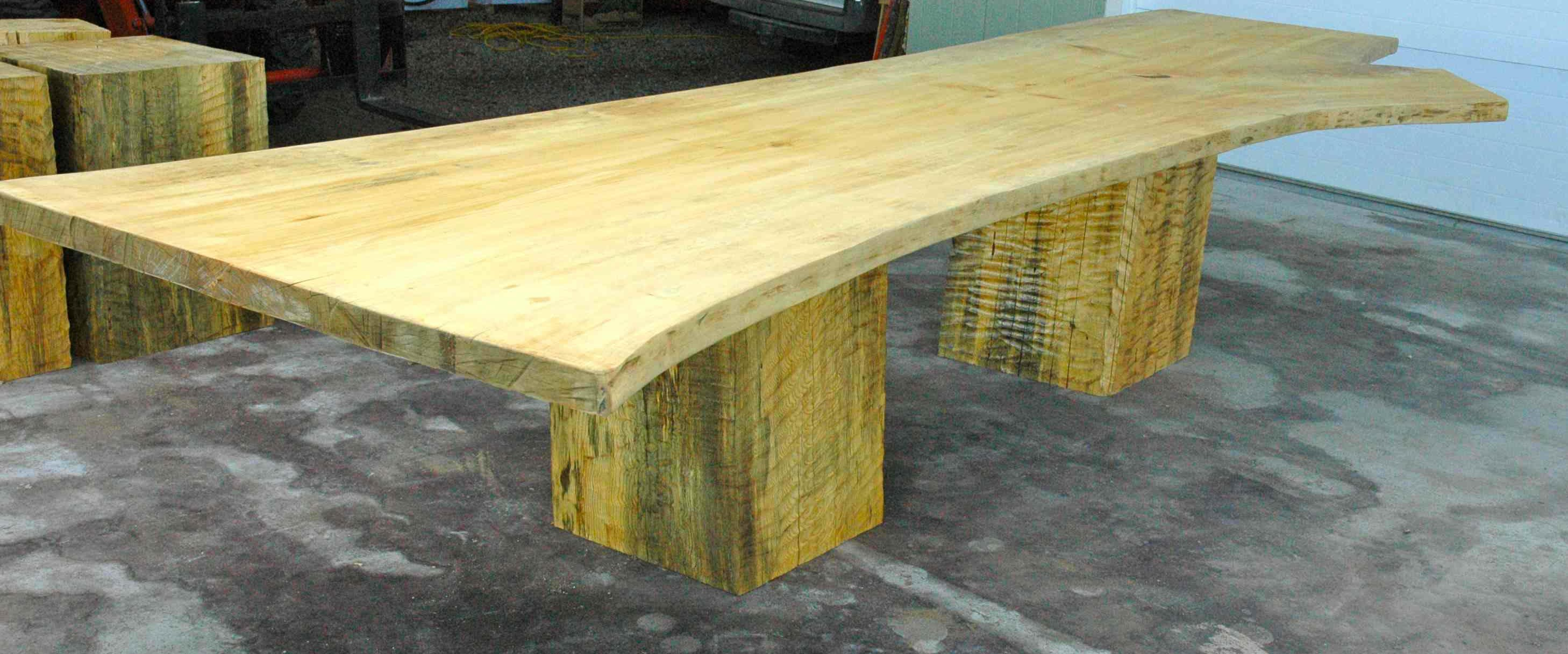 This rustic dining table is an EXTRA LARGE, HUGE, single piece slab of Ginko