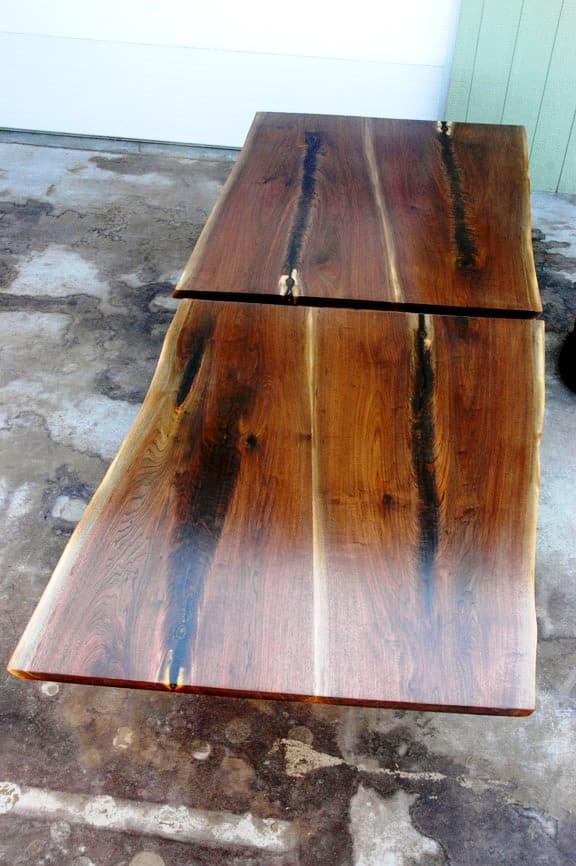 Walnut Crotch Wood Slab Custom Dining Table