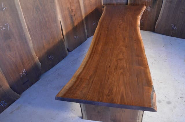 Recycled Walnut Crotch Dining Table