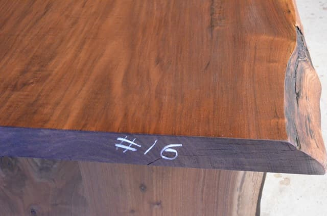 Recycled Walnut Crotch Dining Table With Organic Edges