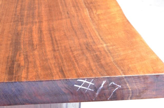 Natural Edge Walnut Dining Table With Beautiful Grain