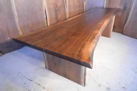 #18 - 112 long Curly Walnut Dining Table_1