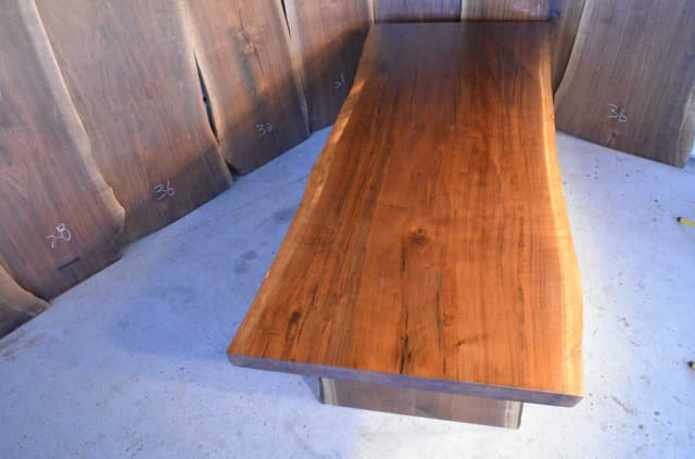 Custom Built Reclaimed Curly Walnut Dining Table