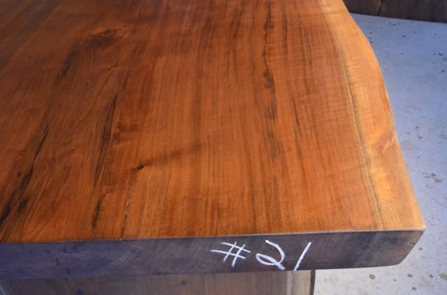 Custom Reclaimed Curly Walnut Dining Table