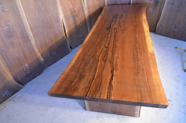 Custom Curly Walnut Dining Table