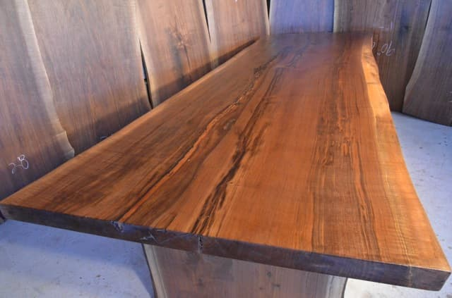 Handmade Custom Curly Walnut Dining Table