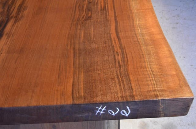 113 Long Custom Curly Walnut Dining Table With Beautiful Grain