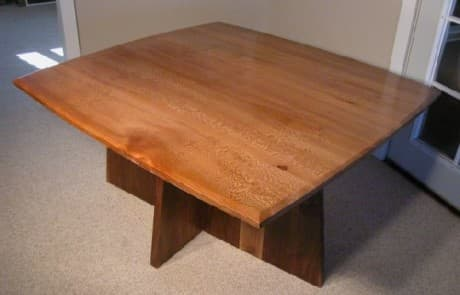 4x4 Sycamore Slab Custom Dining Table 1