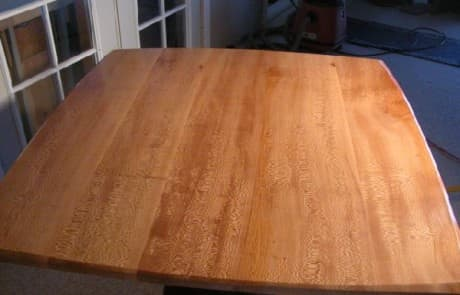 4x4 Sycamore Slab Custom Dining Table 2