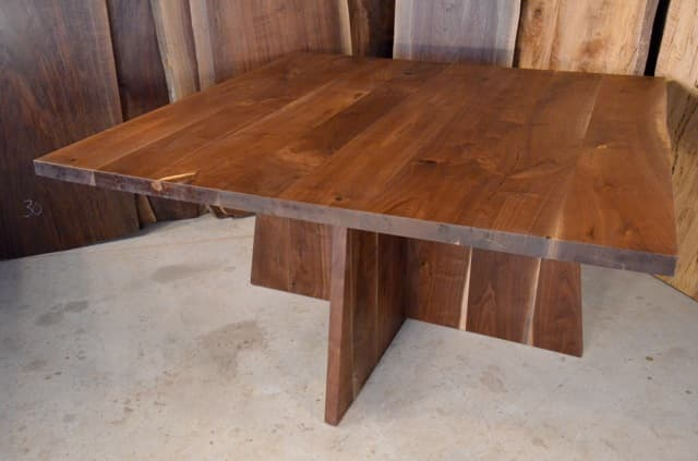 5 Foot Walnut Dining Table with walnut Base