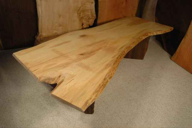 6′ Ash Crotch Slab Custom Nakashima Style Coffee Table