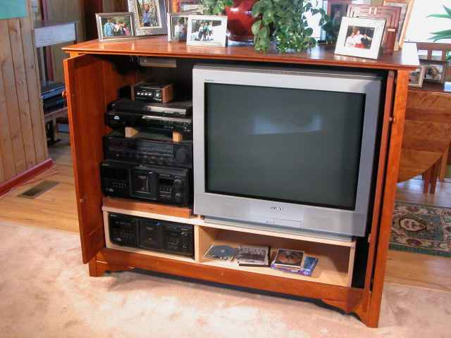 Custom Cherry Entertainment Center2