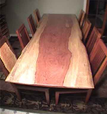 This Rustic Dining Table Top Is A Single Piece Slab Of Bubinga