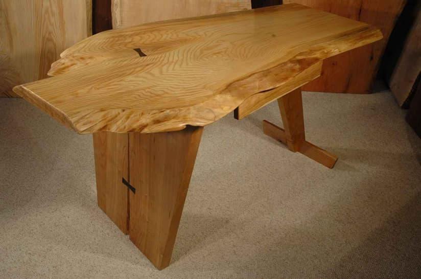 Ash Slab Custom Executive Desk