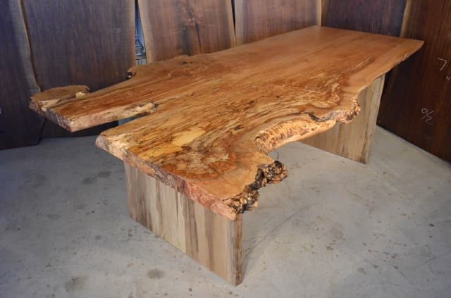 Beatutiful Custom Spalted Maple Burl Dining Table
