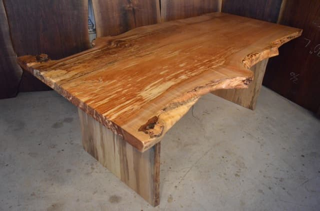 Beatutiful Spalted Maple Burl Dining Table