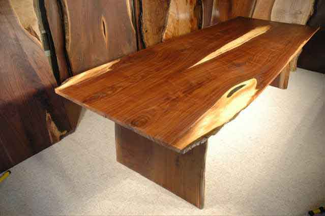 Walnut Crotch Wood Slab Dining Table- 1″ Table B