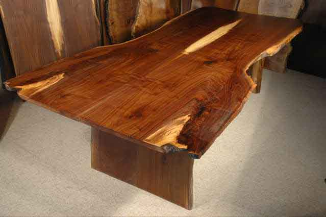 Walnut Wood Crotch Rustic Custom Dining Table