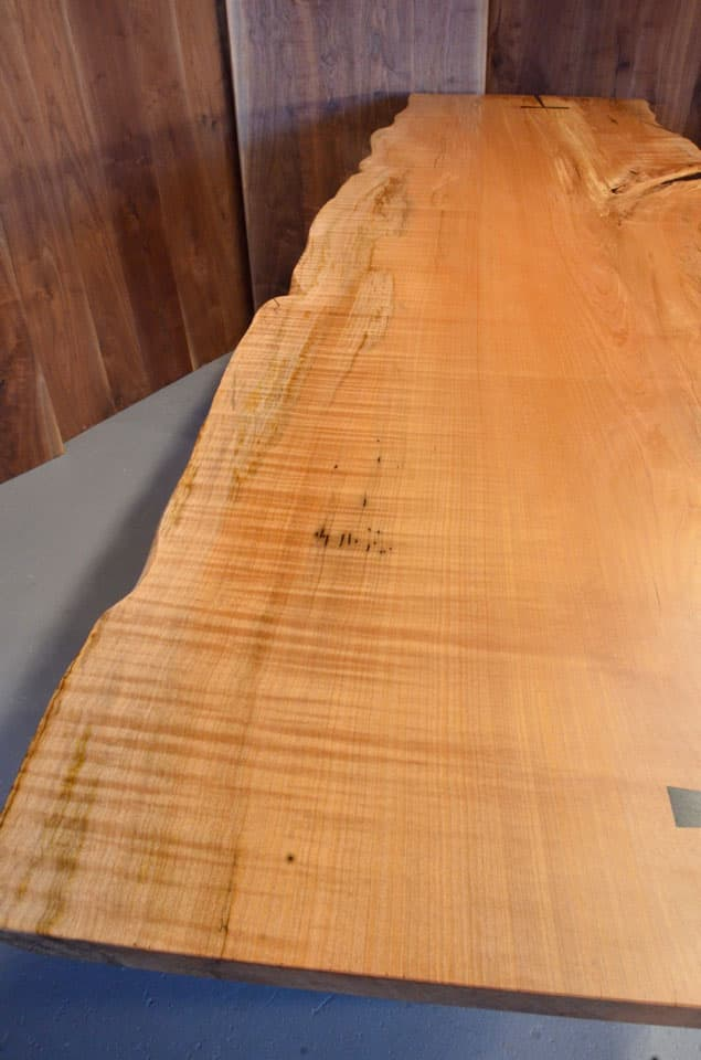 Burled Maple Slab Custom Executive Desk