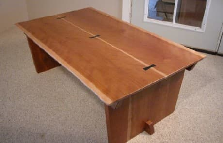 Cherry Crotch Custom Coffee Table 1