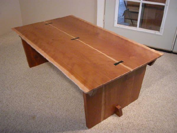 Cherry Crotch Custom Coffee Table 1
