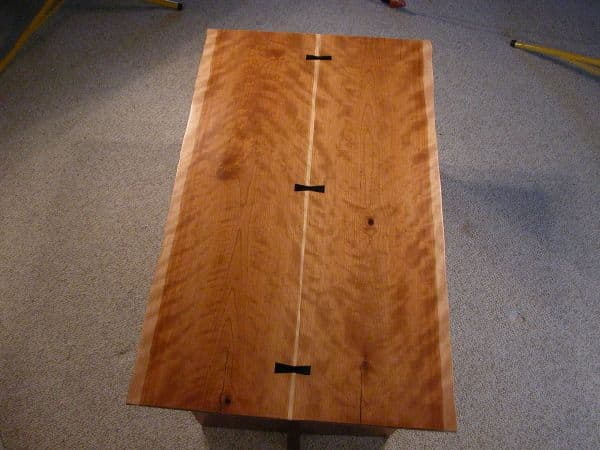 Cherry Crotch Custom Coffee Table 2