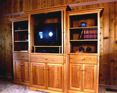 Cherry Custom Entertainment Center