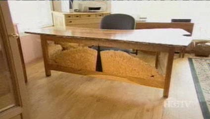 Cherry HGTV Custom Desk - as seen on Modern Masters TV show 3
