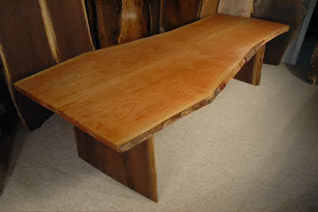 Cherry and Walnut Slab Custom Dining Table