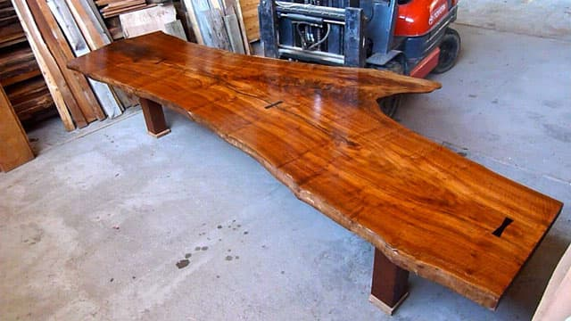Claro Walnut Crotch 13 foot Dining or Conference Table