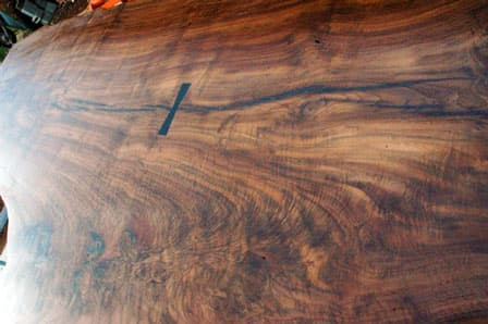 Claro Walnut Crotch 13 foot Dining or Conference Table4