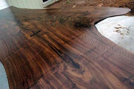Claro Walnut Crotch 13 foot Dining or Conference Table5