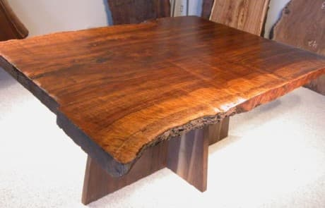 Claro Walnut Rustic 4'x 5.5' Slab Custom Dining Table 1
