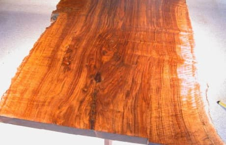 Claro Walnut Rustic 4'x 5.5' Slab Custom Dining Table 2