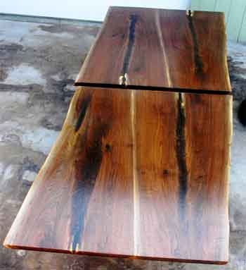 Walnut crotch wood slab custom dining tables