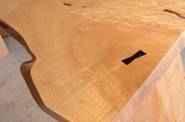 Unique Custom Curly Maple Executive Desk