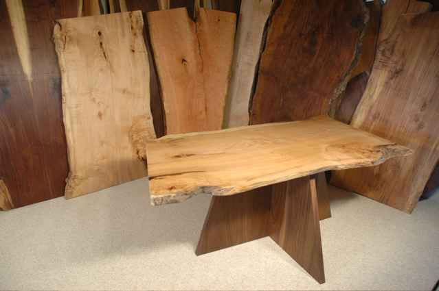 Natural Edge Maple Slab Dining Table