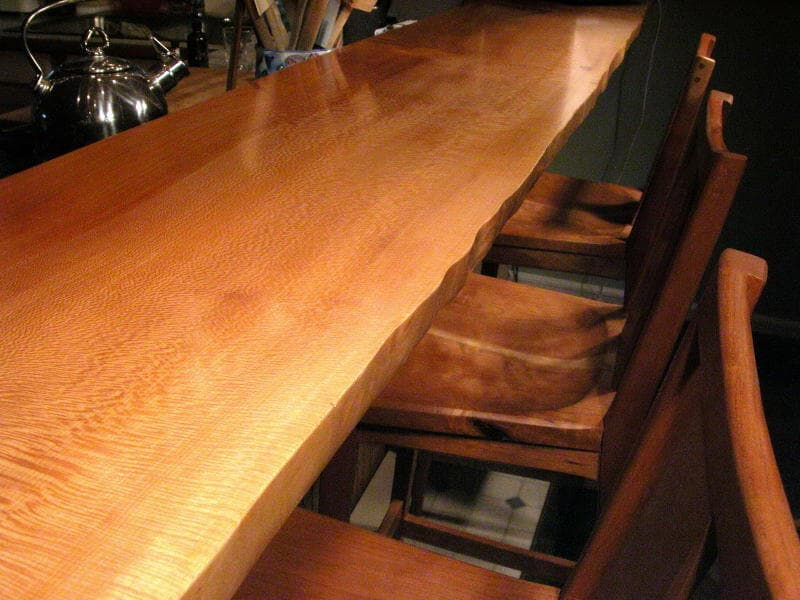 Custom handmade bar tops made from unique beautiful wood for Creative table tops