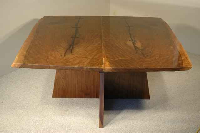 Custom Walnut Slab Boardroom/Conference Table