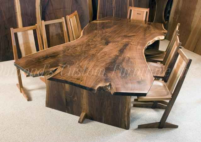 "The ""Welch"" Custom Walnut Slab Boardroom/Conference Table"