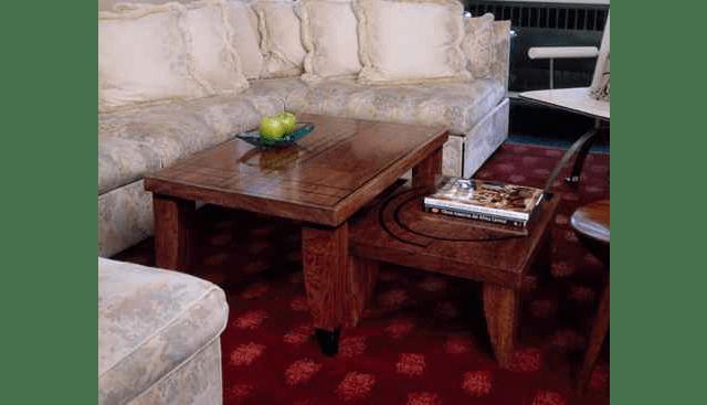 Custom Bubinga Stacking Coffee Tables