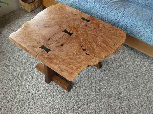 Burled Maple & Ebony Coffee Table