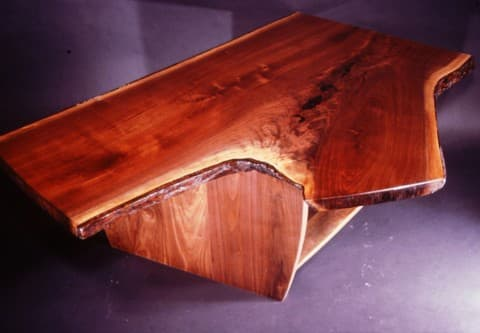 Rustic Walnut Crotch Slab Custom Coffee Table