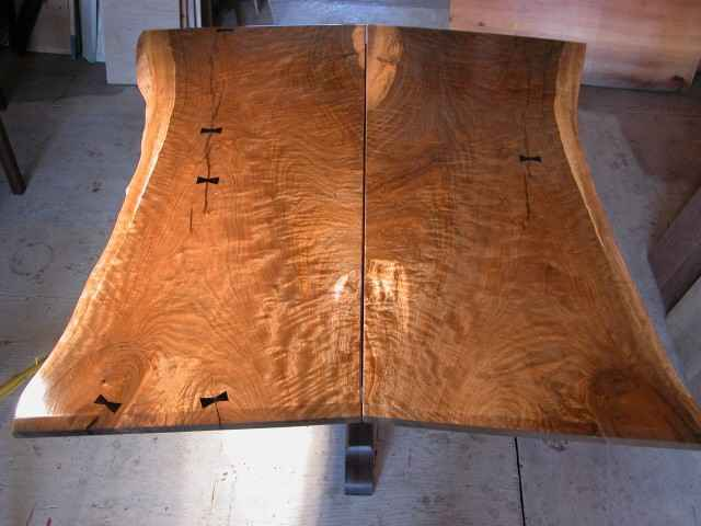 Custom Conference Table   Rustic Slab Walnut 3