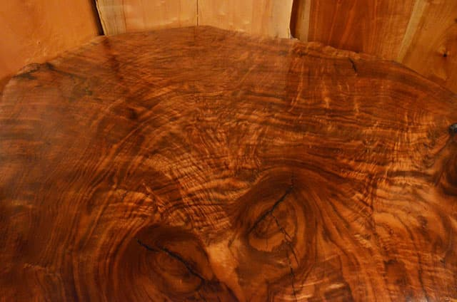 Custom Contemporary Rustic Burl Claro Walnut Slab Table - The Arnold Table 3