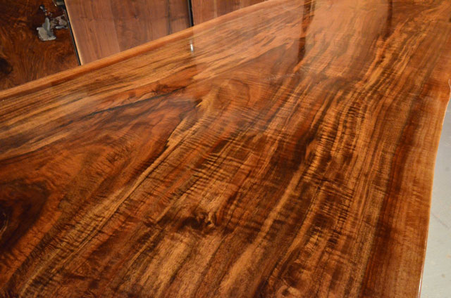 Custom Contemporary Rustic Burl Claro Walnut Slab Table - The Reed Table 4